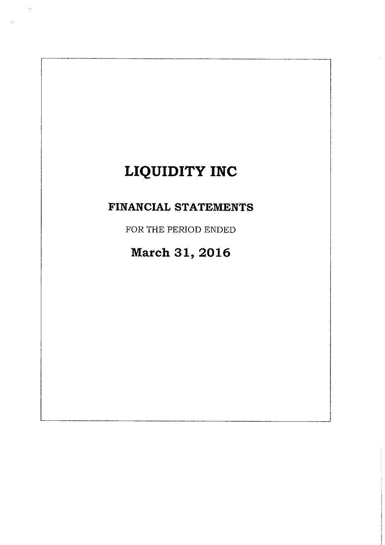 LIQUIDITY INC Result 2015-2016